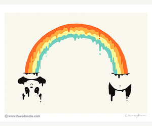 cute, love, and panda image