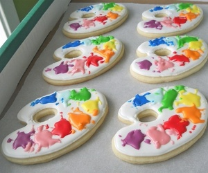 Cookies, food, and paint image