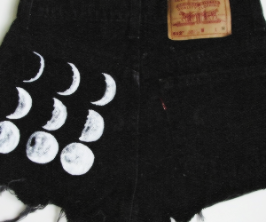 black, header, and moon image