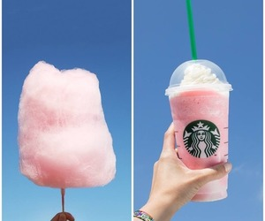 starbucks, pink, and cotton candy image