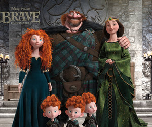 brave, disney, and family image