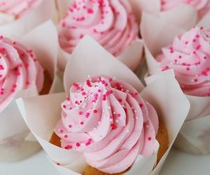 pink, cupcake, and food image