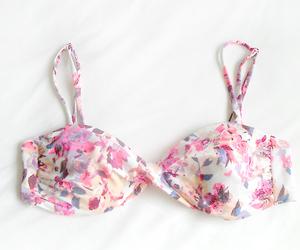 flowers, pink, and bikini image