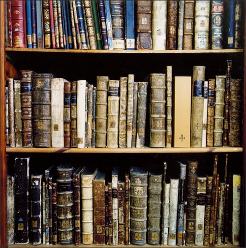 book, library, and old image
