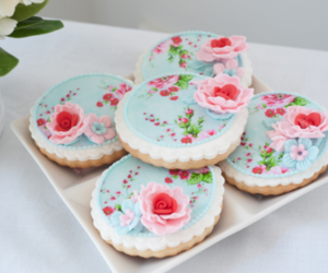 Cookies, flowers, and dessert image