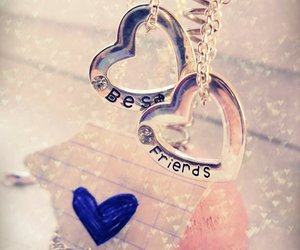 best friends and heart image