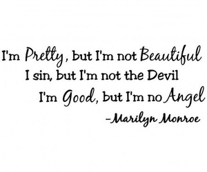 pretty, quote, and Marilyn Monroe image