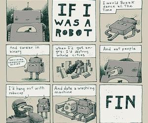 robot and comic image