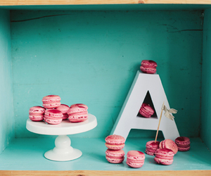 baby blue, cake stand, and dessert image
