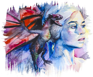 watercolor and game of thrones image