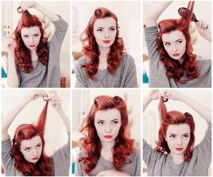 red, redhair, and pinuphair image