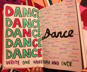book, dance, and color image