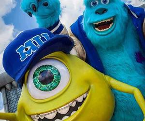 monster, disney, and mike image