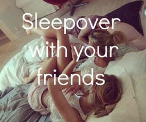 sleepover, girl, and friends image