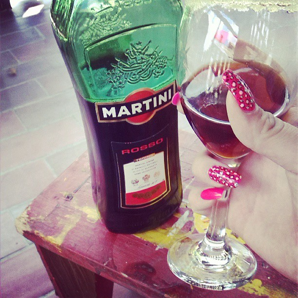 nails, pink nails, martini, martini rosso, fashion, rich, summer ...