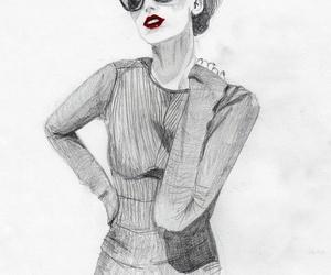 art, bun, and fashion image