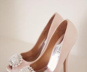 heels, pastel, and pink image