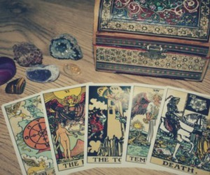 tarot and black and white image