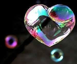 :), ❤, and bubble image