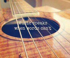 music, guitar, and quote image