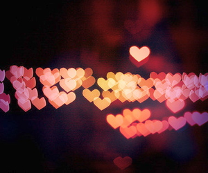 bright, heart, and love heart image