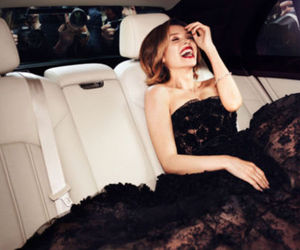 dress, smile, and car image