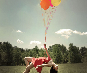ballons, couleur, and girl image