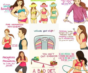 body, diet, and girls image