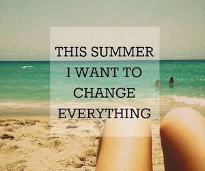 summer, change, and beach image