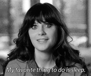 sleep, quotes, and new girl image