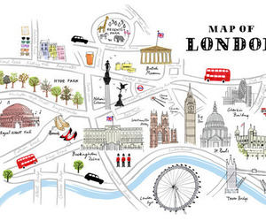 london, map, and england image