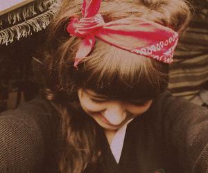 girl, bandana, and hair image