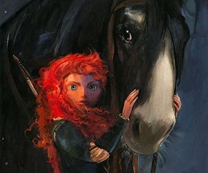 disney, merida, and brave image