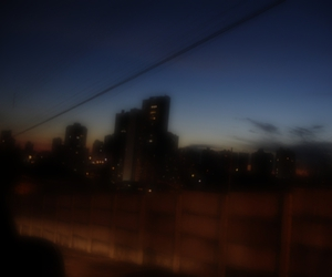 city, city lights, and faded image
