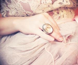 ring, girl, and vintage image