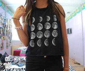 fashion, moon, and tumblr image