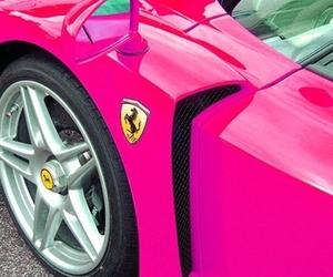 ferrari, pink, and car image