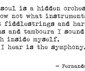 Fernando Pessoa, music, and poem image