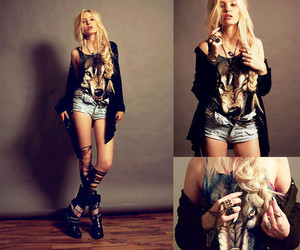 outfit, wolf, and blonde image