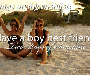 love, beach, and best friends image