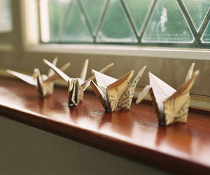 origami, photography, and vintage image