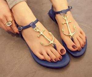 blue, sailor, and sandals image