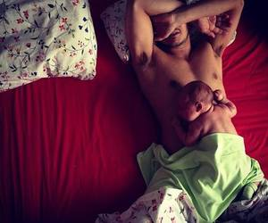 baby, sweet, and bed image