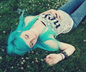 blue, blue hair, and lying image