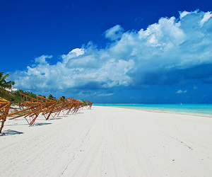 beach, blue, and cancun image