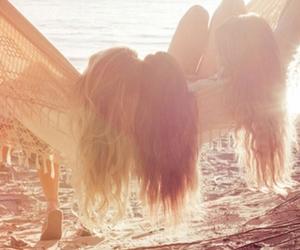 girls, lake, and summer image