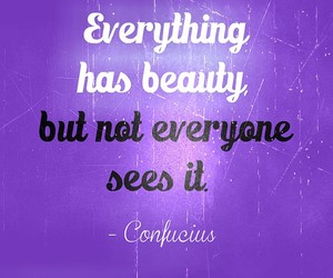 quote, beauty, and confucius image