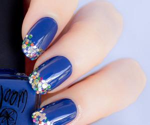 blue, sparkles, and like image