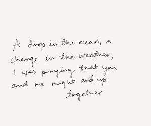 Lyrics, ocean, and quote image