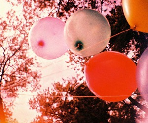 balloons, lomography, and vintage image